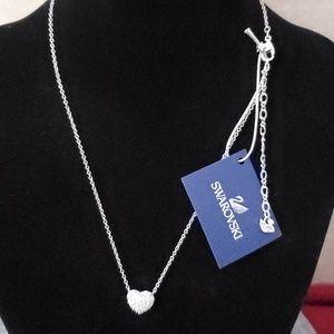 Swarovski Jewelry - Swarovski double sided heart necklace.